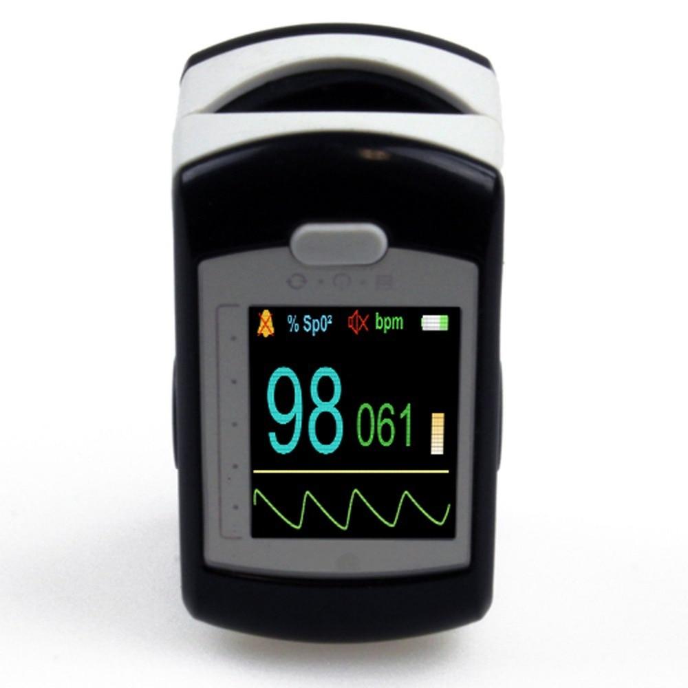 CMS50E 1.3 A Colori OLED Contec Ricaricabile Pulsossimetro con il software Oximetro De Dedo Pulsioximetro - 2
