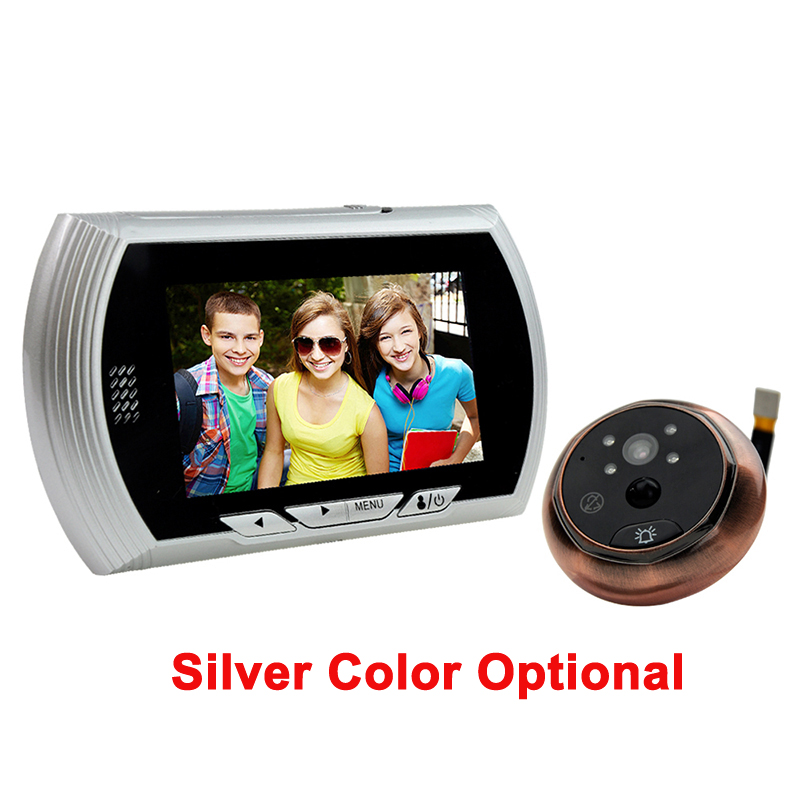 4.3inch LCD Screen Security Camera Monitor Video Record Photo Shooting Night Vision PIR Motion Sensor with 8 OSD Language