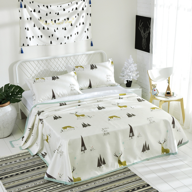 Marvelous 3pcs Flat Sheets King Size Pretty Flamingos Milu Deer Digital Printing Bed  Sheets Pillowcase Queen Size