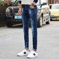 Мужские джинсы four seasons новая молодежная мода мужские эластичные брюки Корейских Тонкий ноги брюки мужские брюки стрейч