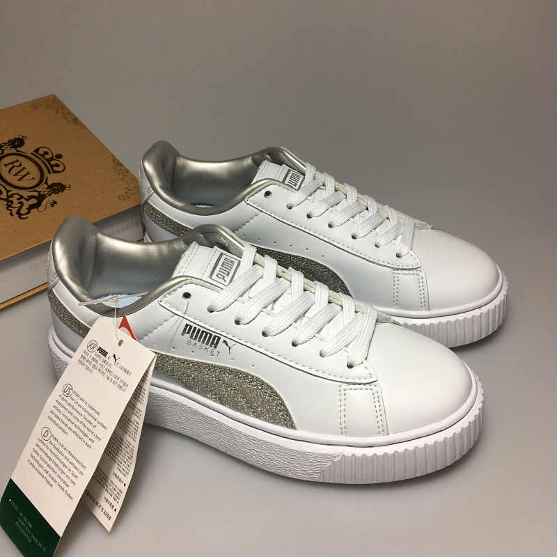 1cf0f8e1c593 Detail Feedback Questions about Free shipping Puma by Rihanna Suede Creepers  women s and men shoes Breathable Badminton Shoes Sneakers size35.5 39 on ...