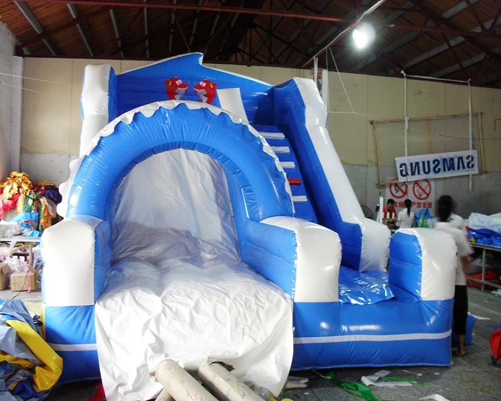 PVC anak-anak bermain slide tiup komersial slide tanah tiup untuk - Hiburan - Foto 1