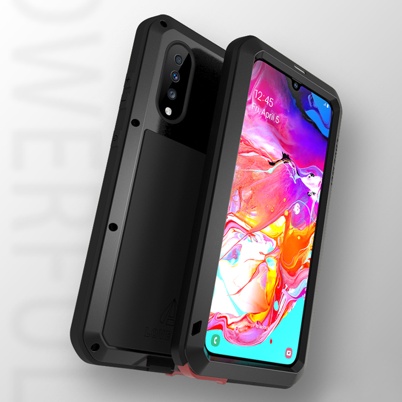 Image 3 - Waterproof 360 Full Body Protective Case For Samsung Galaxy A70 Case Shockproof Aluminum Metal Back Cover For Samsung A70 Cases-in Fitted Cases from Cellphones & Telecommunications