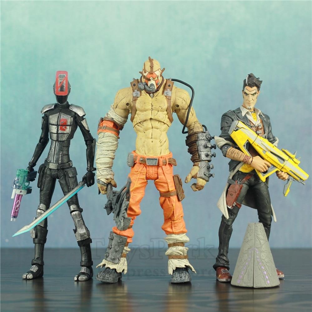 """Borderlands 2 Handsome Jack Krieg Zero Ninja 7"""" Action Figure Statue From Origianl McFarlane Color Tops Toy Doll Collectible"""