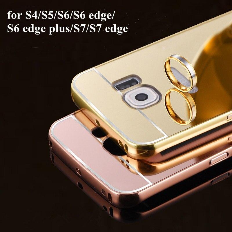 Pour Samsung Galaxy S4 S5 S6 S6 bord plus S7 S7 bord S8 S8 Plus Cas De Luxe  Couverture Arrière De Miroir Coque a846427e43d2