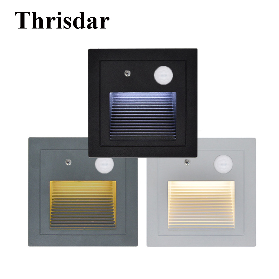 Lighting Basement Washroom Stairs: 10PCS 3W PIR Motion Detector Outdoor Waterproof Led Stair