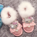Free Shipping Handmade Rhinestone Pearl crystal lovely warm Winter baby girl's bling bling Snow Boots children Boots Shoes 0375