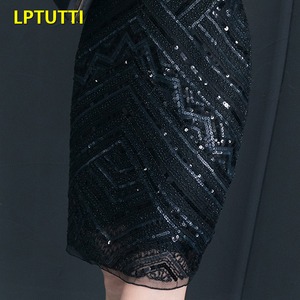 Image 5 - LPTUTTI Sequin New Sexy Woman Plus Size Social Festive Elegant Formal Prom Party Gowns Fancy Short Luxury Cocktail Dresses