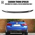 P Стиль F33 спойлер заднего багажника из углеродного волокна для BMW F33 Кабриолет 4 серии (non M4) авто гоночный автомобиль хвост загрузки губ крыло