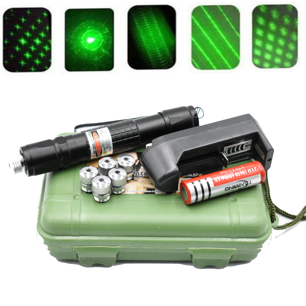 High Power 5mW Green Laser Pointer 532nm 303 Laser pen Adjustable Burning Match With Rechargeable 18650 BatteryHigh Power 5mW Green Laser Pointer 532nm 303 Laser pen Adjustable Burning Match With Rechargeable 18650 Battery