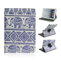 Blue and White Pattern 360 Degree Rotating Stand Cartoon Leather Case for iPad Mini 1 2 3
