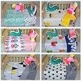 Bebé ropa de cama cuna juego de cama 3 unids/set set nueva llegada lindo oso de la estrella diseño 100% de algodón para recién nacido pato mejor regalo
