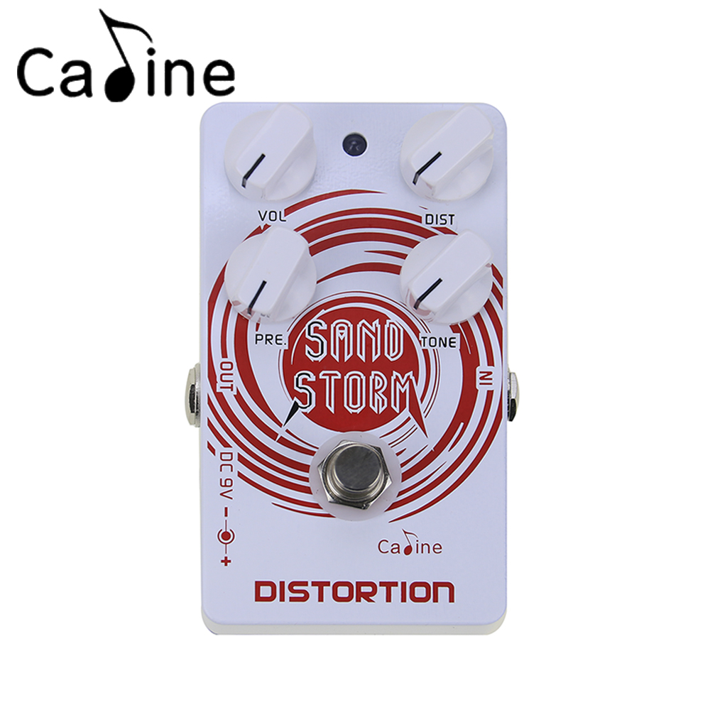 Caline CP-27 Sand Crunch Distortion Electric Guitar Effect Pedal Aluminum Alloy Housing True Bypass Guitarra Effectors aroma adl 1 aluminum alloy housing true bypass delay electric guitar effect pedal for guitarists hot guitar accessories
