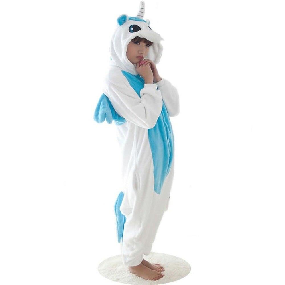Winter Kawaii Anime Hoodie Pyjamas Cosplay Horse Adult Onesie Christmas Cartoon BLUE Unicorn Pajama Costume Onesie Sleepwear