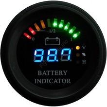 Круглый светодиодный индикатор заряда батарей 12-100 V
