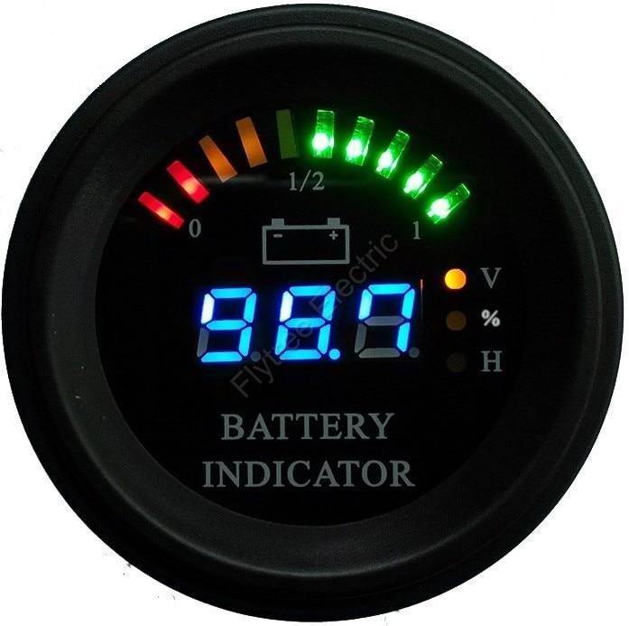 Digital Battery Meter : Round led digital battery gauge discharge indicator hour
