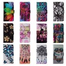 Case For Apple iPhone 8 7 6s Plus SE 5 5S PU Leather Phone Case Pattern Flower Butterfly Owl Painted Cover Flip Wallet Bag P03Z цены