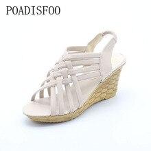 PADISFOO chaussures femme chaussures D'été de Style Bohème Nouvelle Croix Sangles Pente Sandales Chaussures Pour La Élastique Chaussures Femmes. QCLR-A08