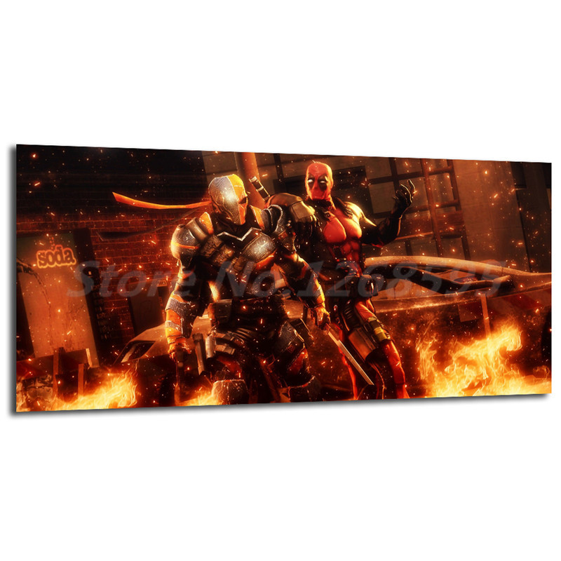 Deadpool And Deathstroke Wallpapers Wall Art Canvas Posters Prints