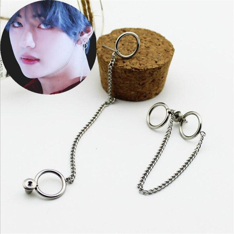 Youpop KPOP BTS Bangtan Boys Album V DNA Stud Earrings Korean Fashion Jewelry Accessories For Mens And Womens Earring FR731