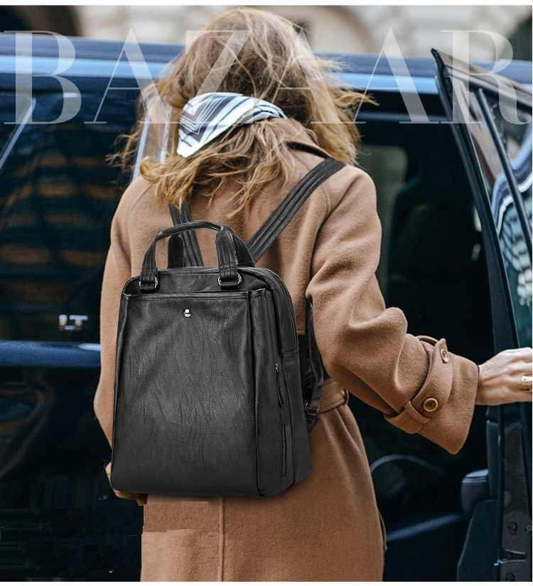 Luxury Brand Women Designer Rivets Genuine Leather Backpack High Quality Girls School Rucksack Casual Ladies Best Back Pack N026