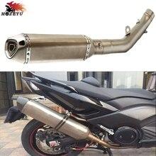 universal motorcycle exhaust pipe carbon dirt motor bike parts For kawasaki z800 2013 2014-2016
