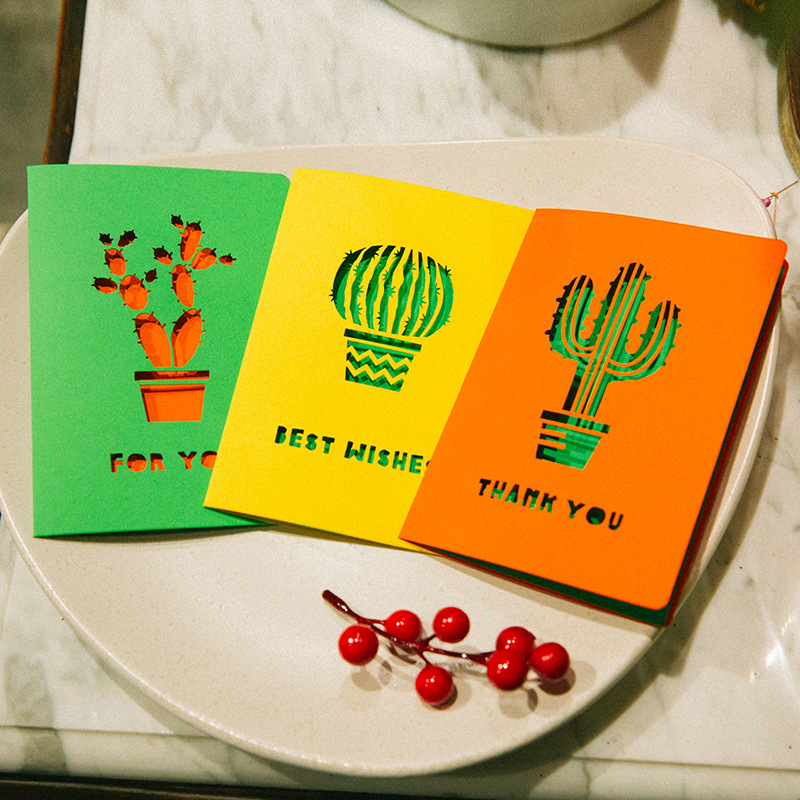 Christmas Bday Cards.Us 0 85 5 Off 1pc Creative Cactus Blessing Card Universal Valentine S Day Birthday Card Christmas Greeting Card In Cards Invitations From Home