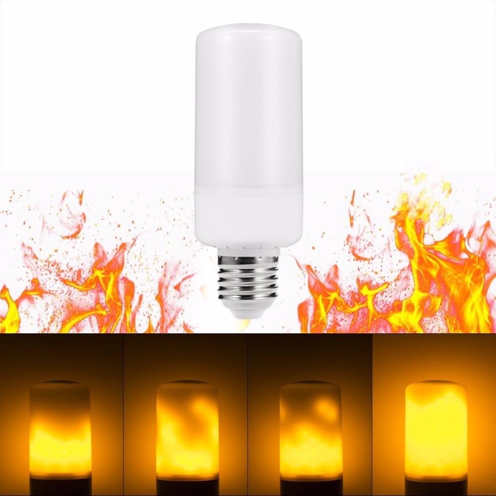 E27 Simulation Flame Effect LED Bulb Corn Lamp Night Light Bulbs Novelty Emulation Fire Flicker Burning Decorative lamp Lantern