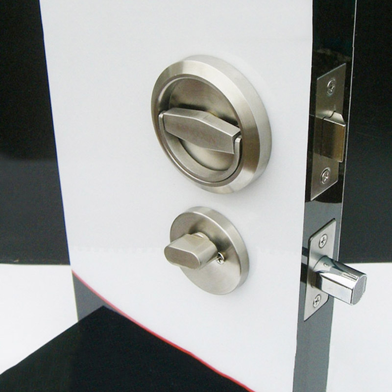 ФОТО Door Locks Stainless Steel 304 Recessed Cup Handle Privacy Door Locks Set KF420