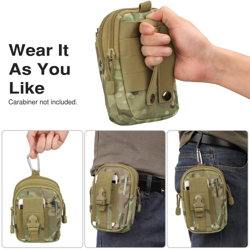 Tactical Molle EDC Pouch Outdoor Waist Bag 1000D Multipurpose Utility Gadget Belt Waist Bag With Trekking Belt Purse