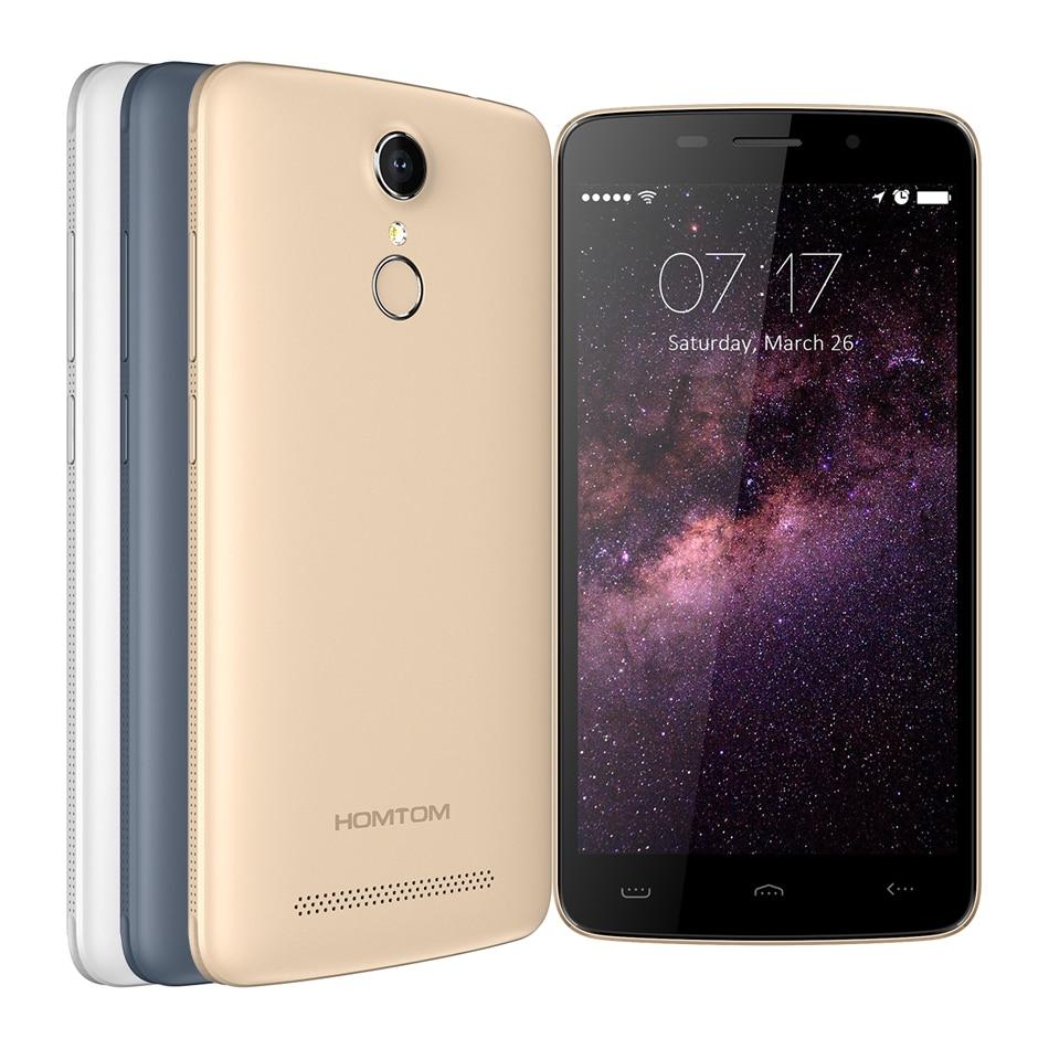 bilder für Fall + film) Geschenke! HOMTOM HT17 handy Android 6.0 1280*720 Quad Core 1 GB + 8 GB 3000 mAh fingerabdruck 4G FDD