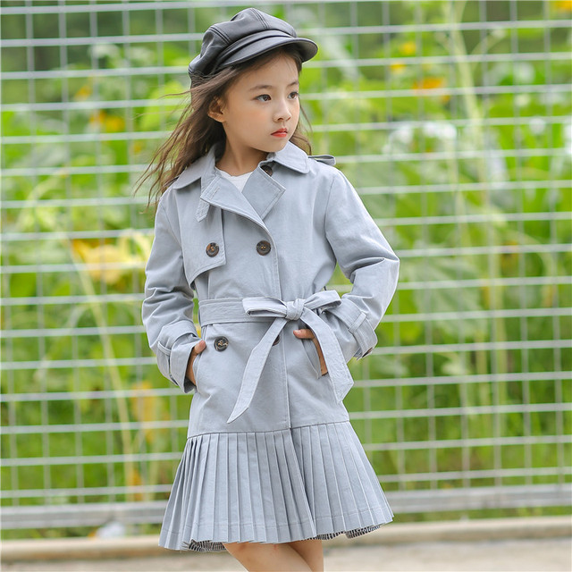 Aliexpress.com : Buy Long Jackets for Girls Coats Khaki Cotton Bow ...