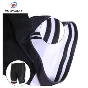Image 5 - KUWOMAX מכירה לוהטת יוניסקס שחור אופניים נוחים תחתונים ספוג ג ל 3D מרופד אופני קצר רכיבה מכנסיים.