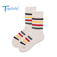 Topchild funny multicolor stripe Winter Thick Warm Jacquard Socks Casual Hombre comfortable high quality big size