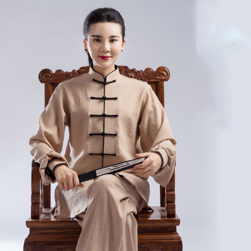 Autumn And Winter Tai Chi Clothes Men And Women Double-deck A Martial Art Performance Practice Clothes  Taiji Boxing Clothing