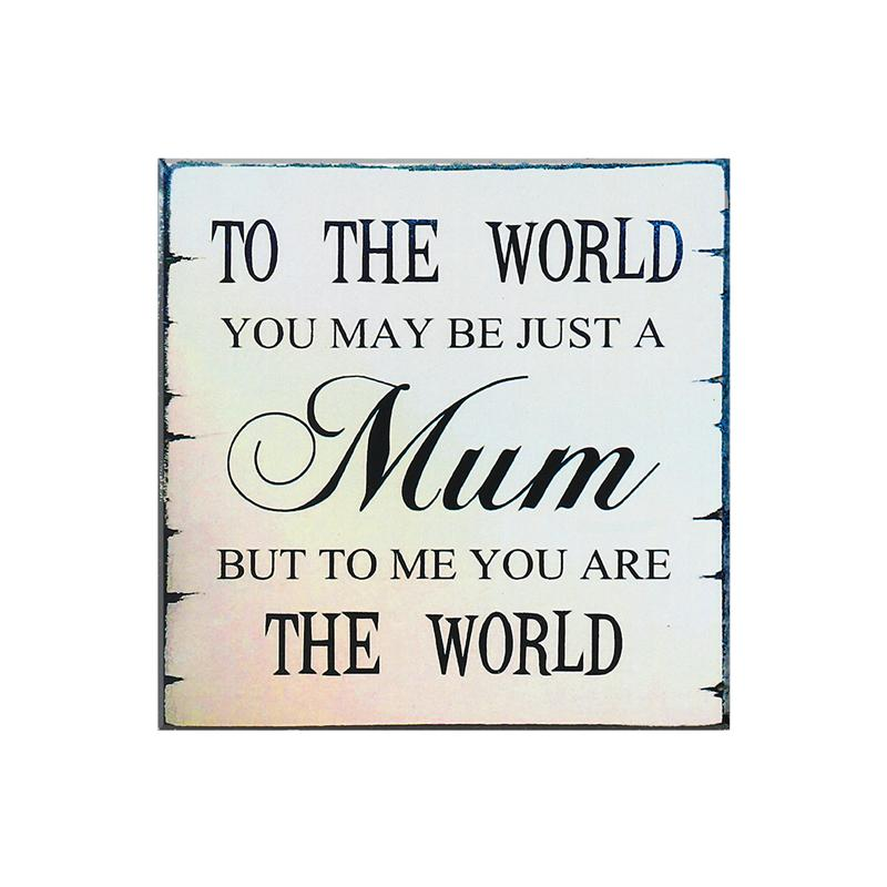 OULII MUM Mothers Day Birthday Christmas Gift Shabby Vintage Chic Wall Plaque Sign
