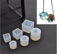 DIY Silicone Mold Transparent Necklace Beads Pendant with Hanging Hole Making Fashion Jewelry H197
