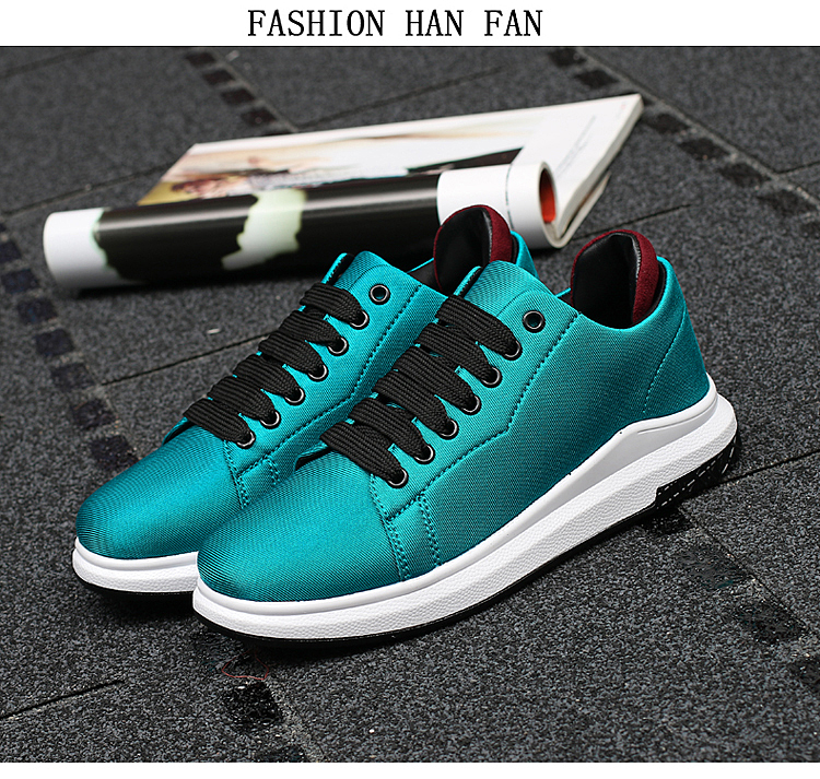 Stretch Fabric Casual Shoes Woman 2017 Fashion Spring Lace Up Ladies Shoes Breathable Women\'s Vulcanize Shoes Superstars ZD68 (16)