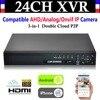 NEW 24CH Channel HD 1080P 4 HDD P2P CCTV Video Recorder Hybrid NVR AHD DVR 1080N