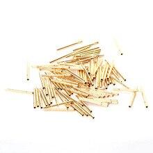 цена на 100pcs Spring Pressure Test Probe Pogo pins R75-3S Needle Tube Dia 1.02mm Length 16.5mm Gold Thimble for Conductive test Tools