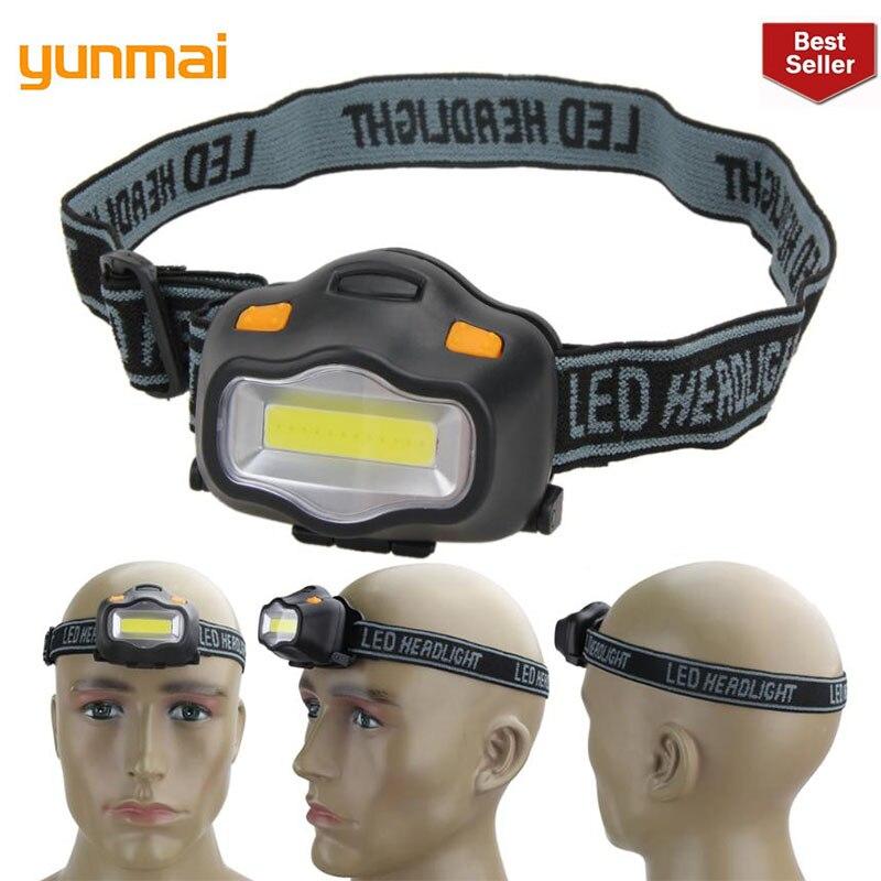 NEW Outdoor Lighting Head Lamp Mini COB LED Headlight For Camping Hiking Fishing Reading Activities White Light Flash Headlamp