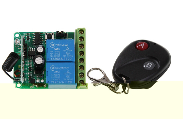 US $11 59 |Fixed Code 2 Keys Wireless Remote Control & 315/413 MHz Two  Channels Learning Code Multifunctional Relay Module KL715+6802S on