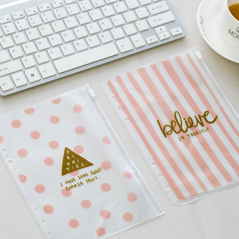 Fromthenon Cute Color Pvc Bag Cad Bag Dividers Notebook Accessories Diary Notes File Storag For Filofax Dokibook Spiral Planner