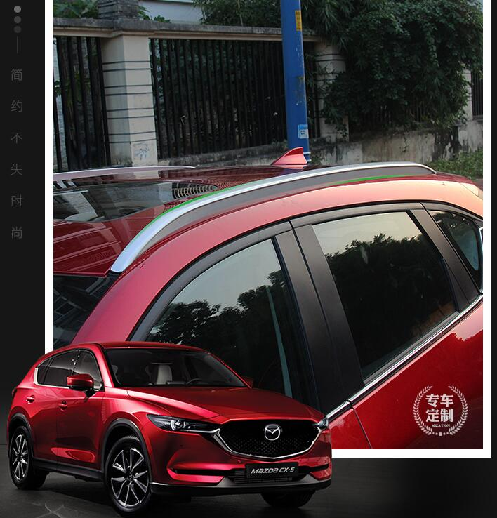 JIOYNG Aluminum alloy Car Roof Rack baggage luggage bar For 17 18 MAZDA CX-5 CX5 2017 2018 BY EMS shiturui for skoda fabia ultra quiet truck roof bar car special aluminum alloy belt lock