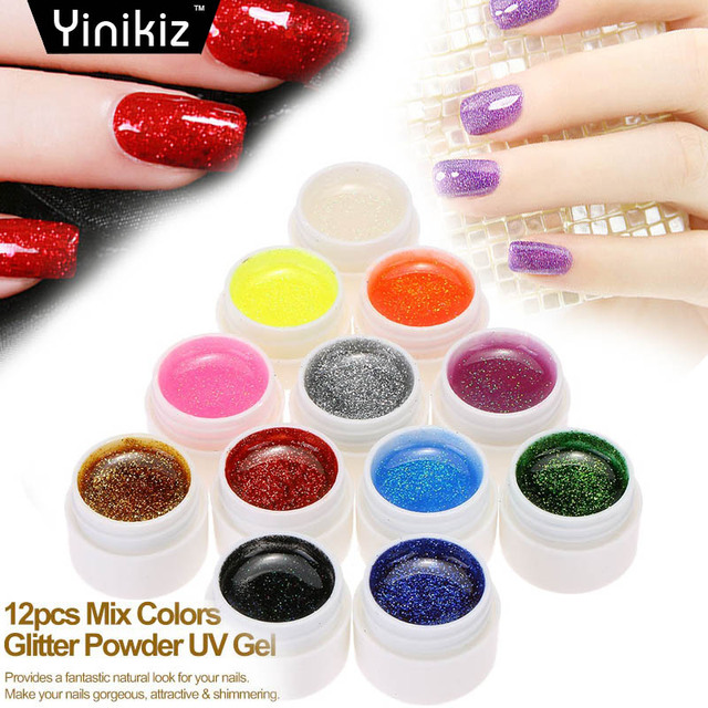 Yinikiz Solid Painting Soak Off UV LED Pure Gel Varnish Gel Nail ...