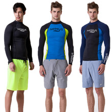 Men Long Sleeve Wetsuit Swimwear Surf Shirt Rashguard Diving Suit Rash Guard Quick Dry Sun Protection Swimsuit Upf 50+ Wind Surf цена