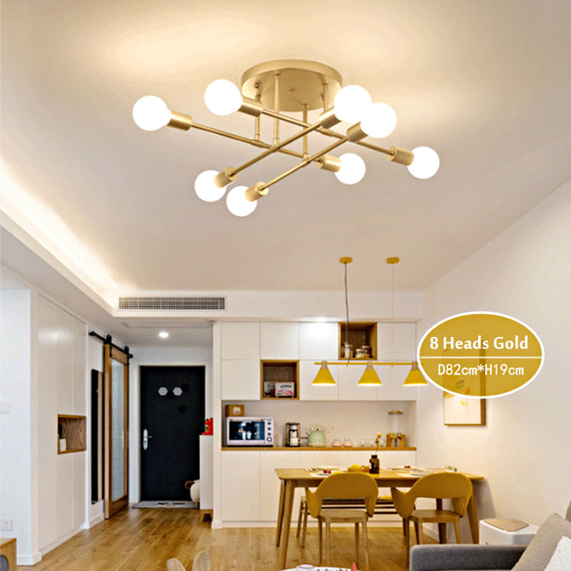 HTB1RY8jX3FY.1VjSZFnq6AFHXXag 6/8 Head LED Industrial Iron Ceiling Lamp Black/Golden European Minimalist  Living Room Lighting 220V E27 Anti-Rust & Durable