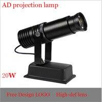 20 W LED Hd werbung projektion lampe  freies design objektiv  Multi funktionale stil  Freeshipping|Werbung-Leuchten|Licht & Beleuchtung -