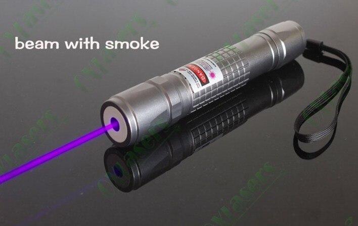 Haute Puissance 1000 m 405nm lampe de Poche Violet Bleu Laser Pointeur vue/UV Violet Lazer Torche Brûler Matchs, Brûler Détecteur de faux,