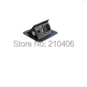 wholesale ZSH6 E2 Press Type Table Socket for conference desk black color in European Plug
